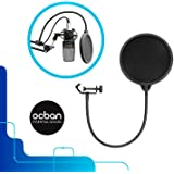 Voice Recording Clamp Professional Microphone Mic Wind Screen Studio Accessories Utility Great Quality Pop Filter Singing Easy Use Essential Record Tool Singer S B P Great Price Ocban