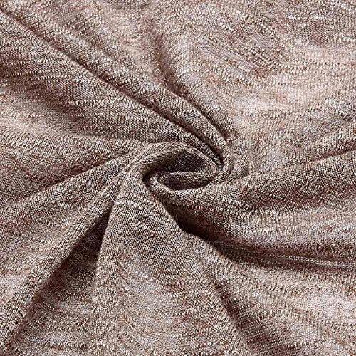 Coversolate Mujeres ocasionales de punto suéter de manga Señora capa de la chaqueta de la rebeca Caqui