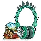 Kids Headphones Boys Wireless Bluetooth Headset w/Mic Over On Ear for School/pc/ipad,Dinosaur Headphones for Kids Children Gi