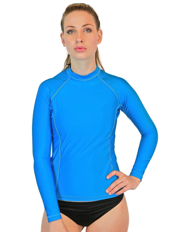 T-Shirt /à Manches Longues UV 50 Sun Protection Goddess Rash Guards Chemise de Bain pour Femme