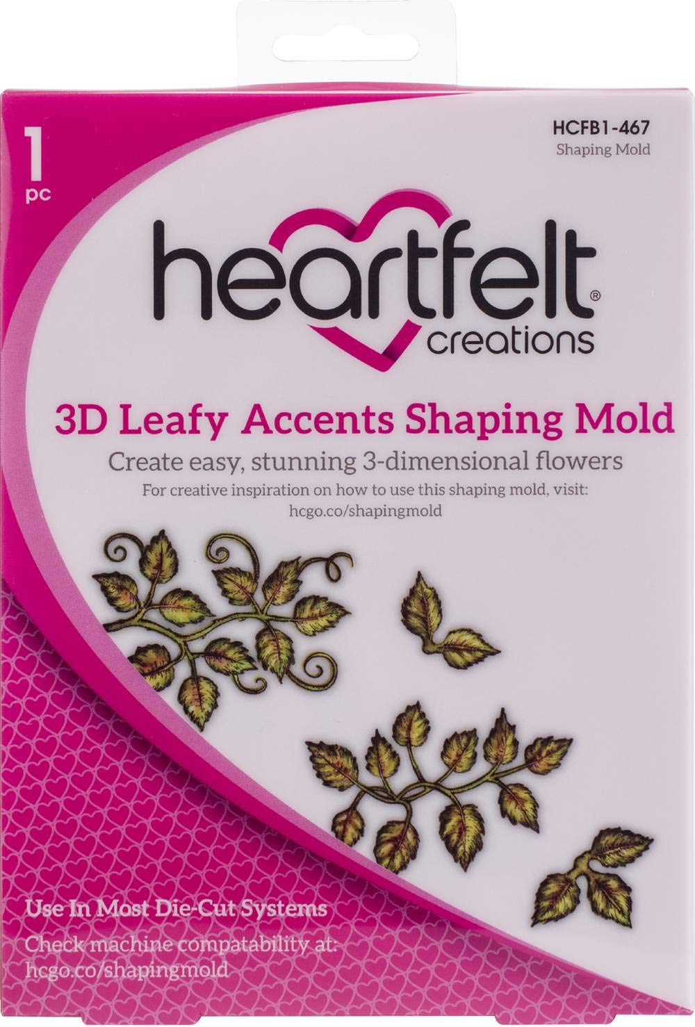 Heartfelt Creations Shaping Mold-3d Leafy Accents 7.75''x5.75''x.5''