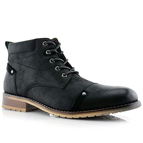 9f48bc179e Ferro Aldo Colin MFA806033 Men's Stylish Mid Top Boots for Work Or Casual  Wear