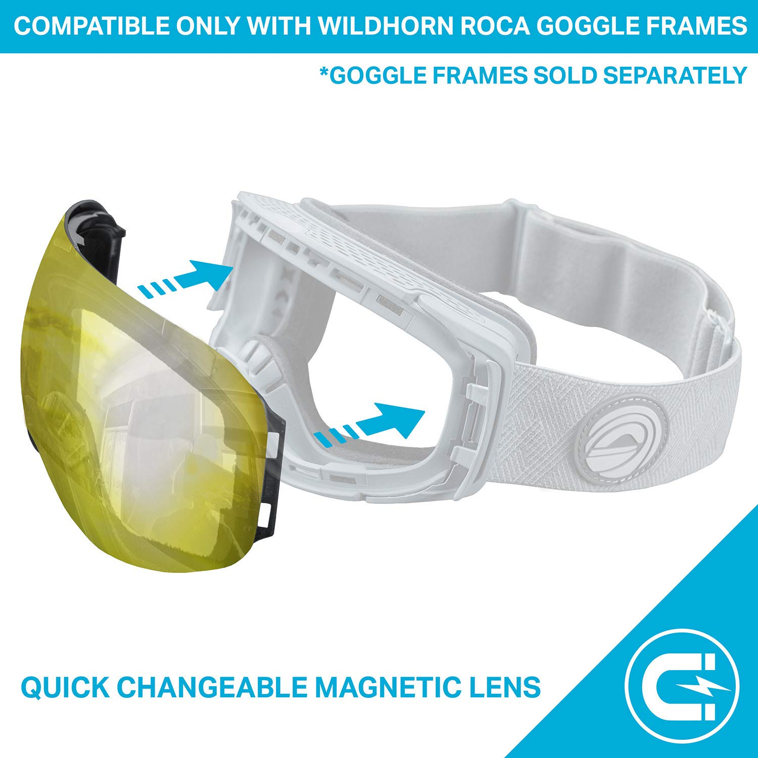 46fa51c8a24 WildHorn Outfitters Roca Extra Replacement Frameless Snow Goggle Lens  larger image