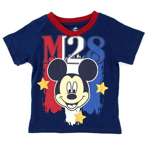 b93fe9e16 Mickey Mouse Baby Boys Stars and Stripes Short Sleeve Tee (12M, Navy Mickey)