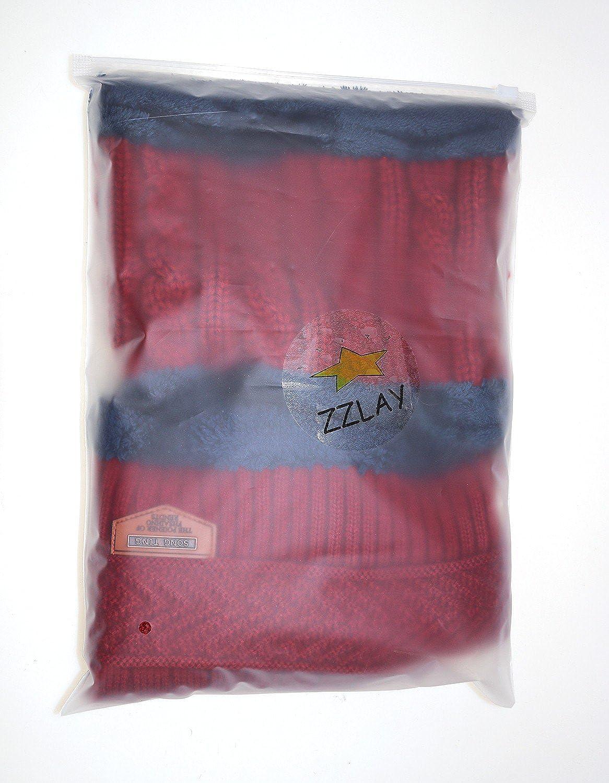 ZZLAY Kids Winter Thick Beanie Hat Scarf Set Slouchy Warm Snow Knit Skull Cap