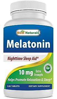 Best Naturals Melatonin 10mg 120 Tablets - Drug-Free Nighttime Sleep Aid - Melatonin for