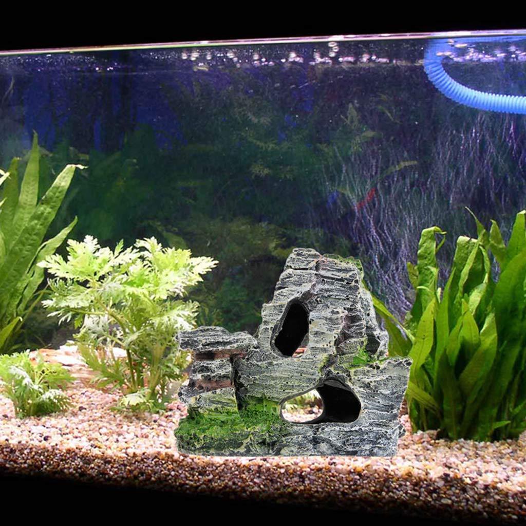 Ncbvixsw New Mountain View Aquarium Rock Grotta Tree Bridge Fish Tank Ornamento Rockery Decor