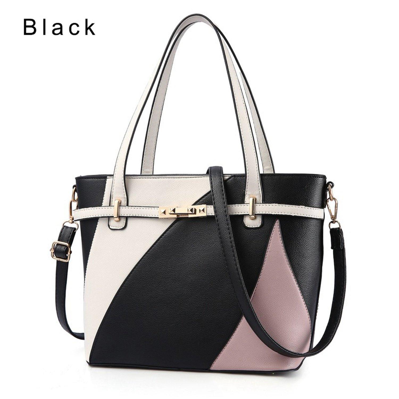 fdf744ce34 Amazon.com  Luxury Handbags Women Bags Crossbody Bag Women Shoulder Bags  Large Capacity Pu Leather Tote Bag K1017 Black 29Cm 14Cm 25Cm  Shoes