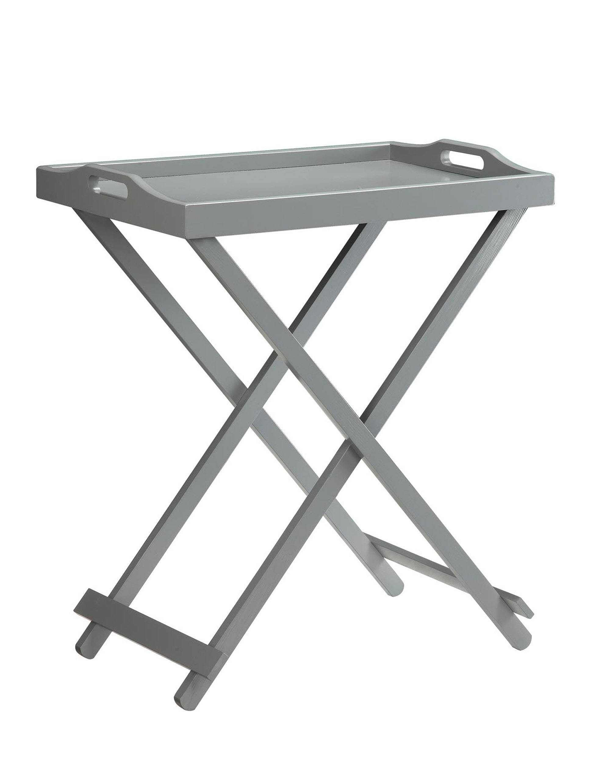 Convenience Concepts Designs2Go Folding Tray Table, Gray by Convenience Concepts (Image #1)