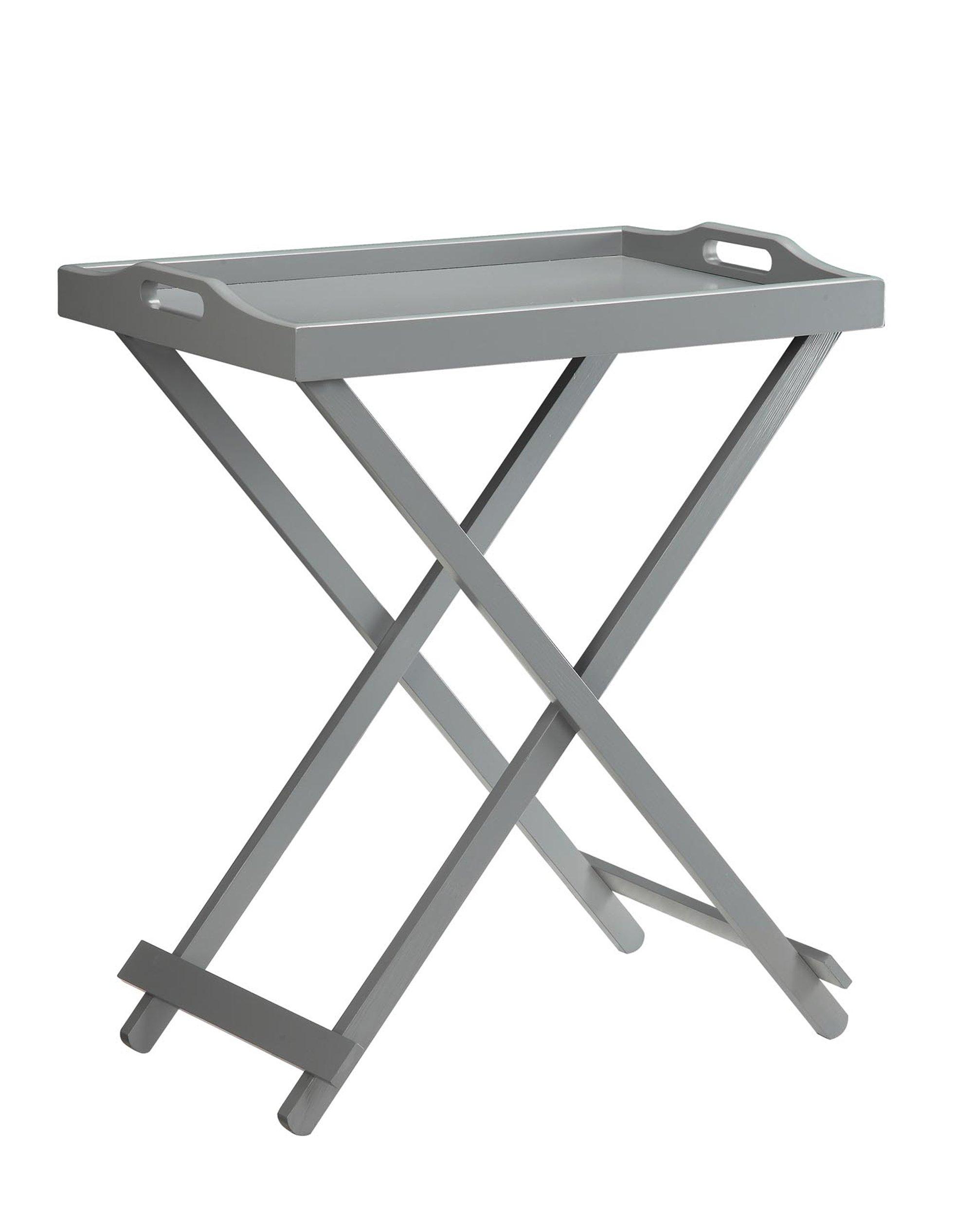 Convenience Concepts Designs2Go Folding Tray Table, Gray