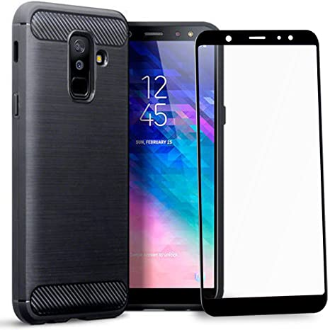 timeless design b6c66 56d27 Olixar Samsung Galaxy A6 Plus Case with Screen Protector - 360 Degree Full  Body Cover - Edge to Edge Tempered Glass - Front and Back Tough Rugged ...