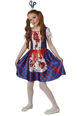Broken Doll Girl/'s Fancy Dress Halloween Zombie Ragdoll Kids Childs Costume 5-13