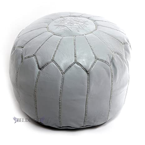Enjoyable Beldinest Moroccan Pouf Ottoman Leather Pouf Round Ottoman Leather Pouf Perfect Home Ottoman Footrest Gray Leather Pouf Bralicious Painted Fabric Chair Ideas Braliciousco