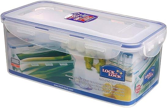Clip Lock Lid Round Plastic Food Storage Container Kitchen Organiser 1.5L