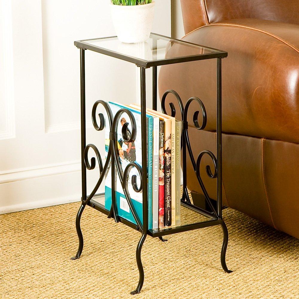 Octangle Decorative Metal Magazine Table