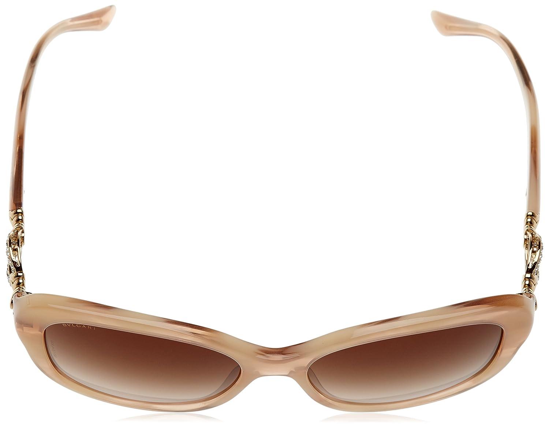 Womens 0BV8180B 541313 Sunglasses, Blonde Horn/Browngradient, 57 Bulgari