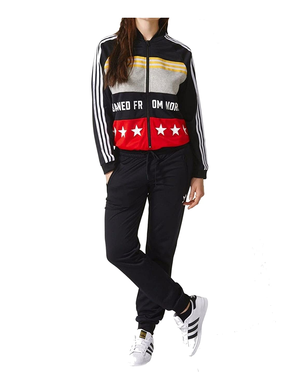 9a361cd464a03 adidas Originals Women's Rita Ora Onesuit Tracksuit AY7136,Small:  Amazon.co.uk: Sports & Outdoors