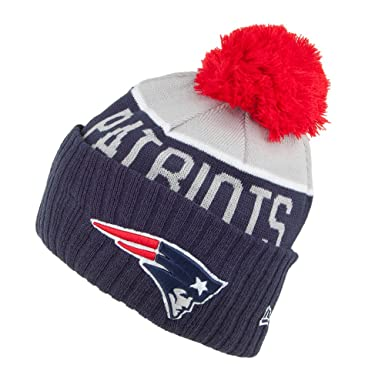 New Era New England Patriots Bobble Hat - NFL Sport Knit - Blue-Grey Blue 3b500358347