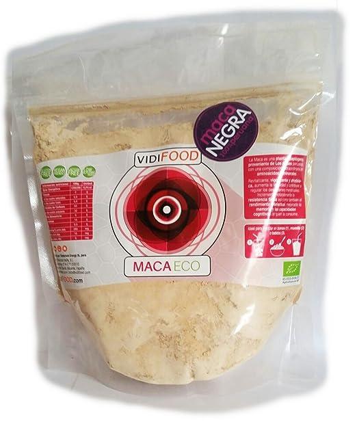 Maca Negra ECO en Polvo - 500g - Fuente de Aminoácidos, Fibra y Vitaminas - Alta calidad - 100% Natural - Superalimento Saludable para Musculación, ...