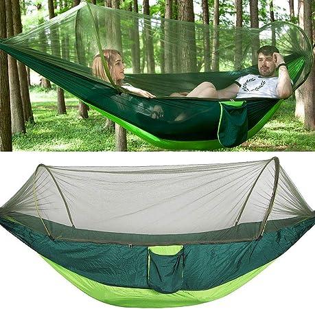 Tente de Camping Portable Ultra-Léger Nylon Extérieur Sky hamac lit avec moustiquaire