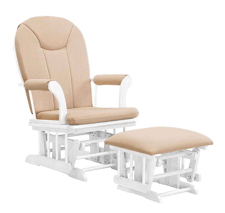 Astonishing Shermag Combo Glider Chair And Ottoman White Beige Short Links Chair Design For Home Short Linksinfo