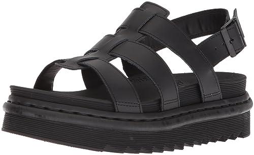 197c49c59abd3b Dr. Martens Women s Yelena Sling Back Sandals (Black Hydro Leather 001)