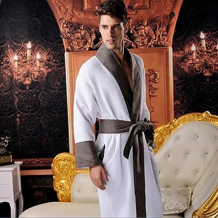 Bathrobe Mens And Ladies Towelling Robe 100% Cotton V Collar Bathrobe  Dressing Gown Bath Robe 591753765