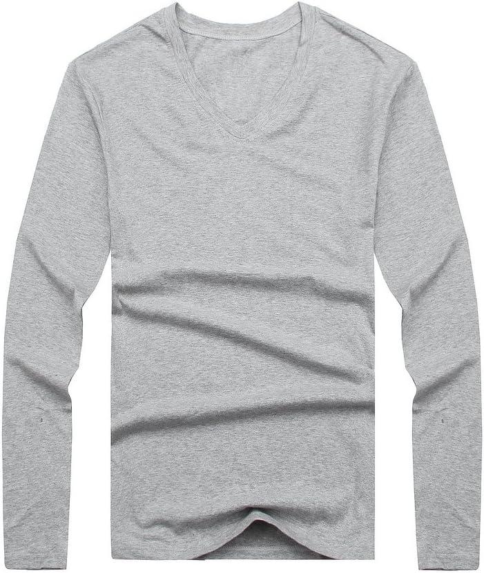 Mens Long Sleeve V-Neck T-Shirt