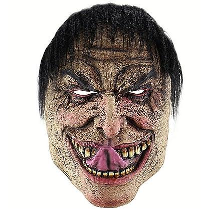 Máscara de Halloween de Storagc Máscara de payaso de miedo Adulto Látex Halloween Disfraz de malvado