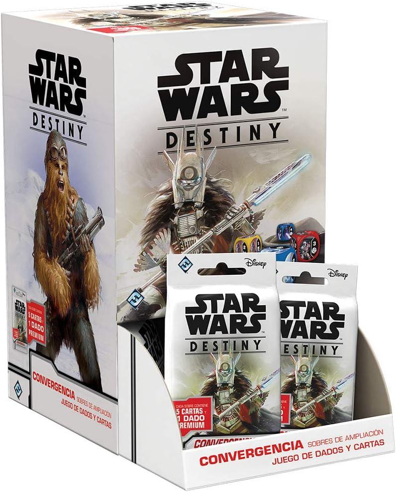 Fantasy Flight Games- Star Wars Destiny - Convergencia Expositor de Sobres de Ampliación (36) - Español, Color (SWD16ES) , color/modelo surtido: Amazon.es: Juguetes y juegos