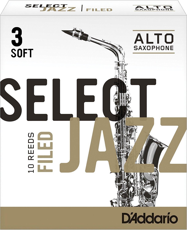 CAÑAS SAXOFON ALTO - D´Addario Rico (Select Jazz) Filed (Dureza 3 SUAVE) (Caja de 10 Unidades)