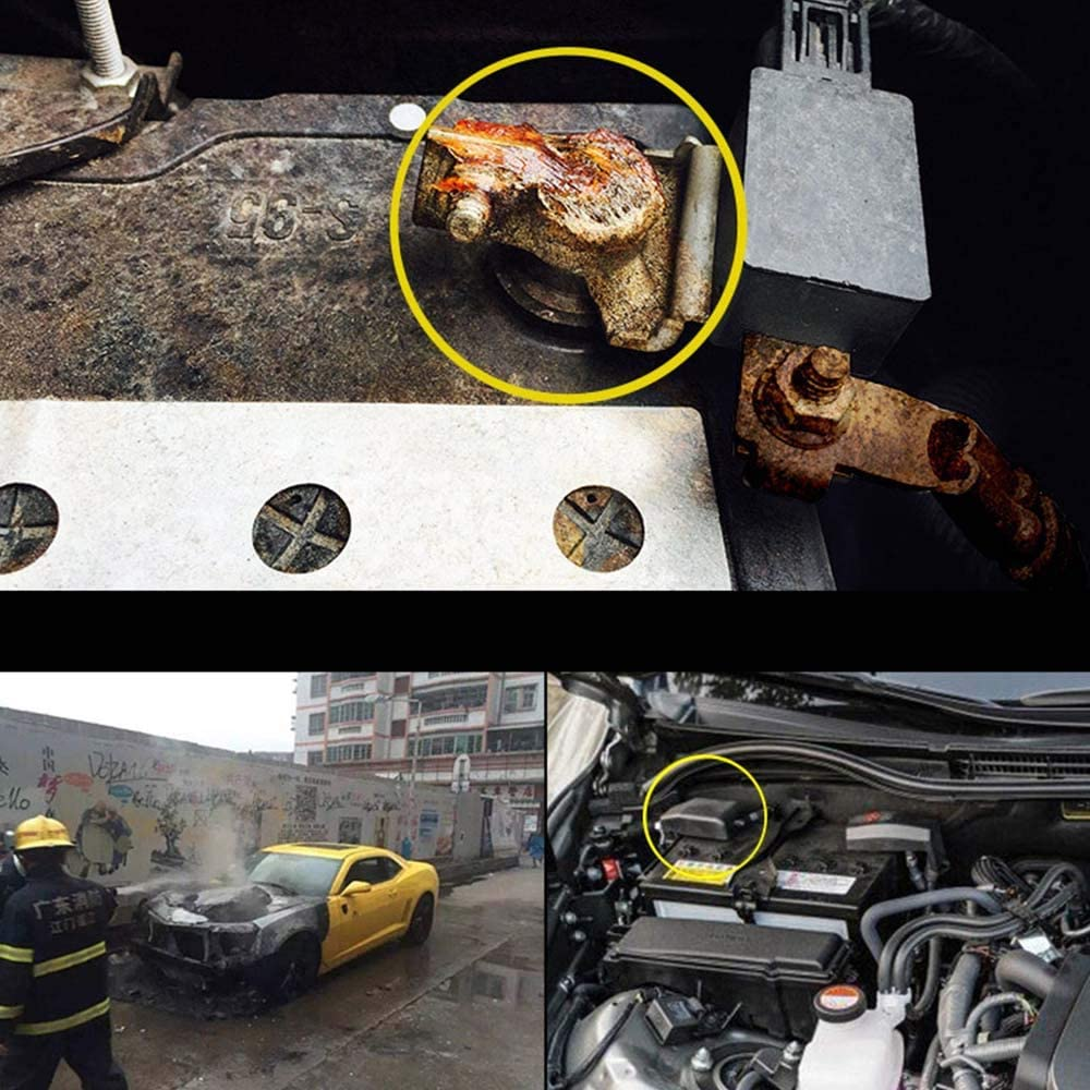 Asdomo Car Battery Cover Protection Negative Car Battery Cover Cap for Toyota Vios Yaris 2006-2013