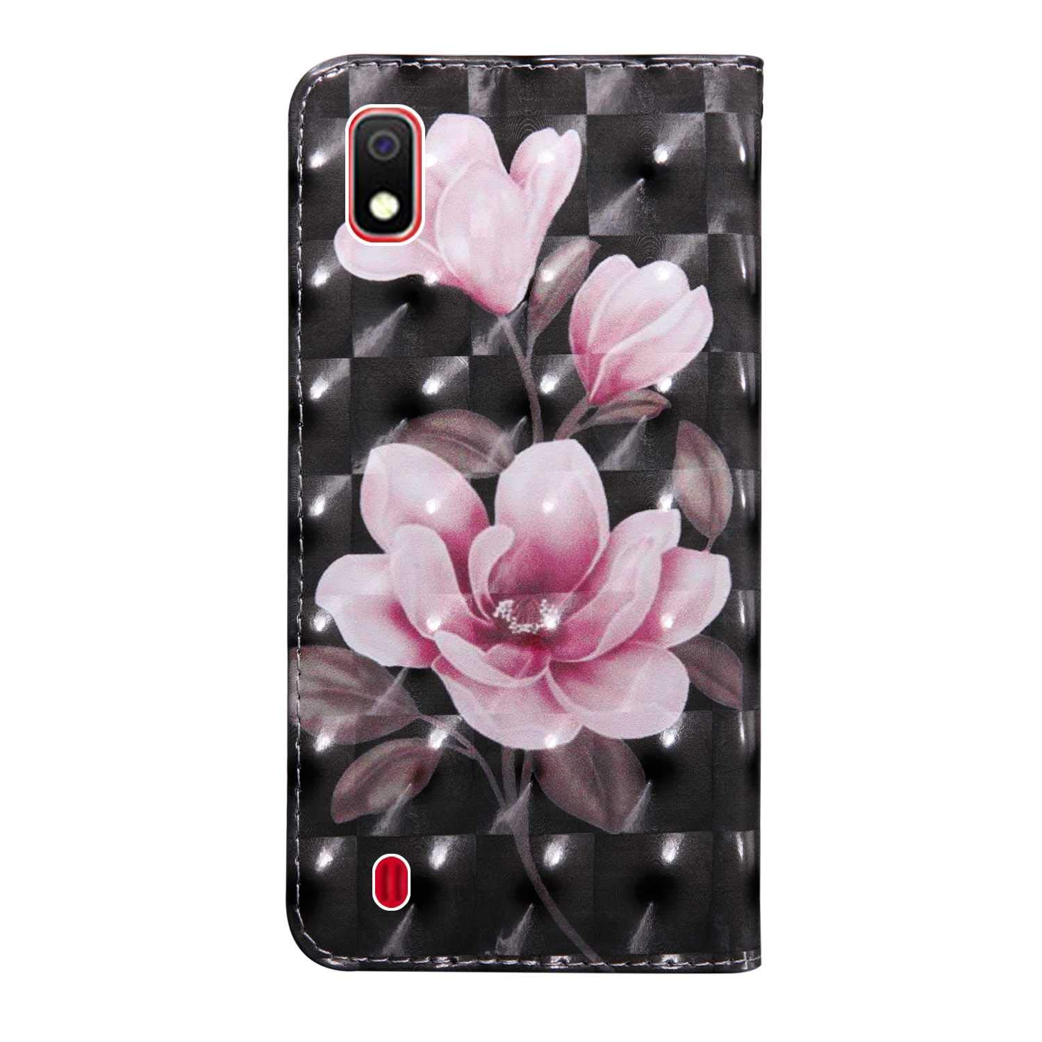 PU Leather Book Style Cover with Free Tempered Glass Screen Protector Bear Village/® Galaxy A10 Case 3D Pattern Design Wallet Flip Case for Samsung Galaxy A10 #9 Tiger