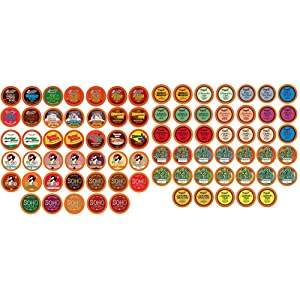 Two Rivers Chocolate Hot Cocoa Pods, Single Serve Variety Sampler Pack Compatible with 2.0 Keurig K-Cup Brewers - Largest Assorted Hot Cocoa & Assorted Tea Sampler Pack for Keurig K-Cup Brewers