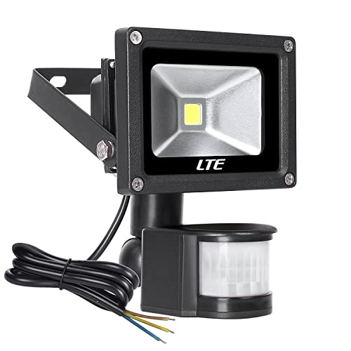 Le led motion sensor flood light 10w outdoor led floodlights led outdoor floodlight 10w pir security light with motion sensor 900 lumen ip 65 waterproof aloadofball Image collections