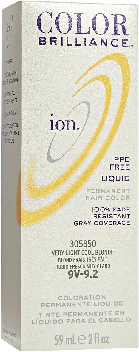 Ion Color Brilliance Permanent Liquid Hair Color 9V Very ...