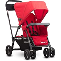 Joovy Caboose Ultralight Standing Stroller Lightweight Double Stroller (Red)
