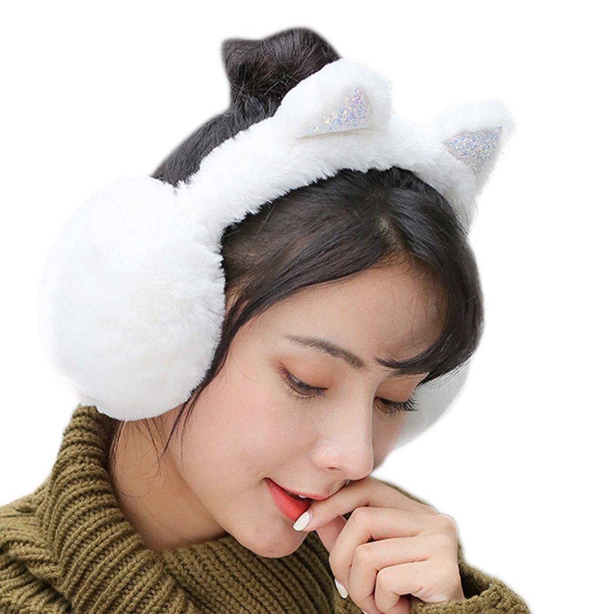 Elezay Unisex Foldable Ear Warmers Polar Winter EarMuffs Outdoor Cold Weather HSZL-EZ012-PINK