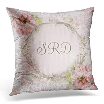 Amazon Throw Pillow Cover Floral Mauve Pink White Roses