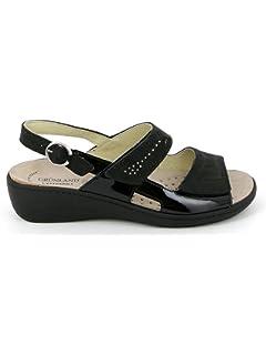 Grunland SE0156 Esta Sandalo Donna P. Nero 40 s540uFwZSc