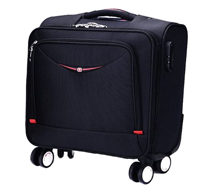 Di Grazia 17 inch Swiss Army Knife Type Rolling Business Laptop Cabin Case Trolley Luggage Travel Suitcase Bag with 4 Wheels 360 Degree Rotation and O