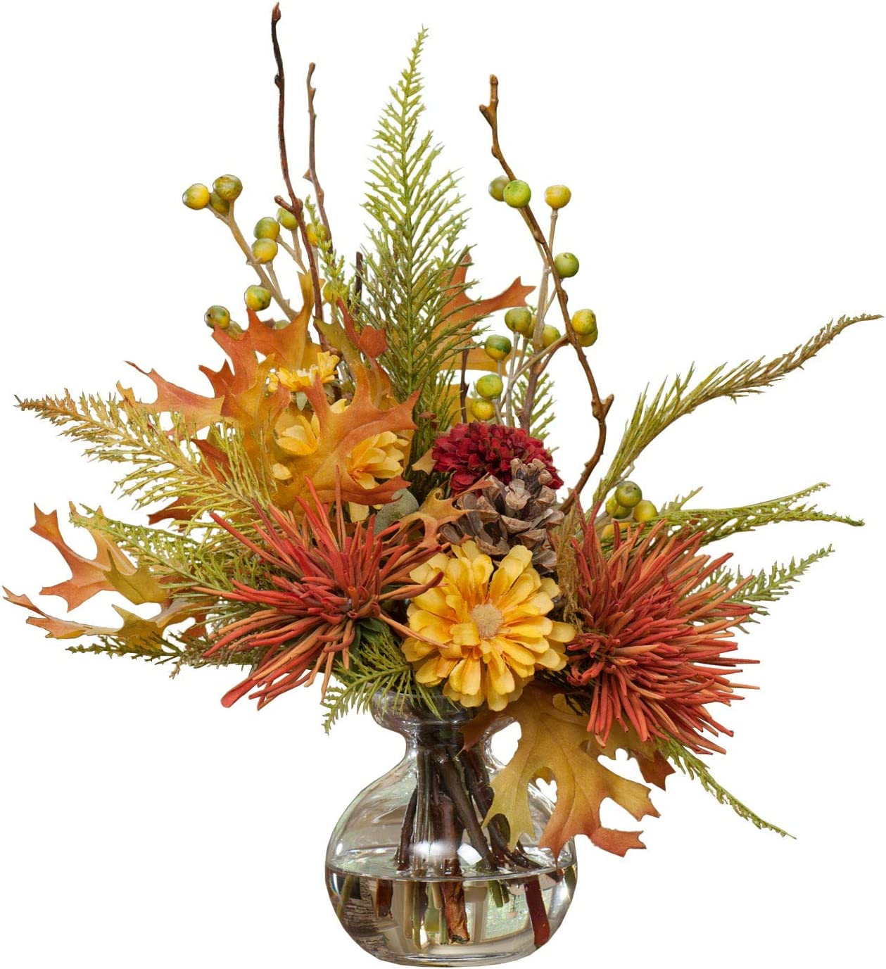 Amazon Com Petals Harvest Moon Silk Flower Arrangement Handcrafted Amazingly Lifelike 13 X 12 Inches Furniture Decor