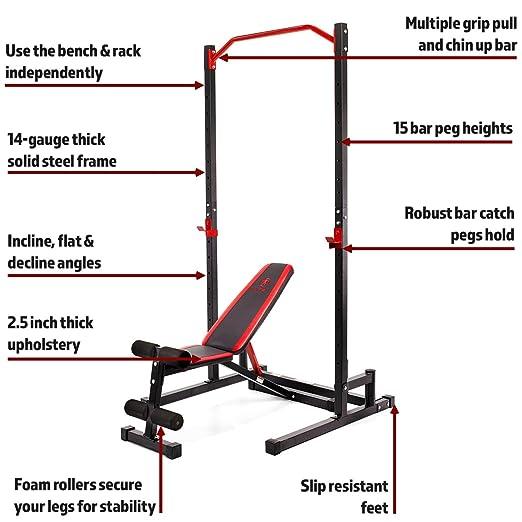 Marcy Rack y Banco de musculación SM-3283: Amazon.es: Deportes y aire libre