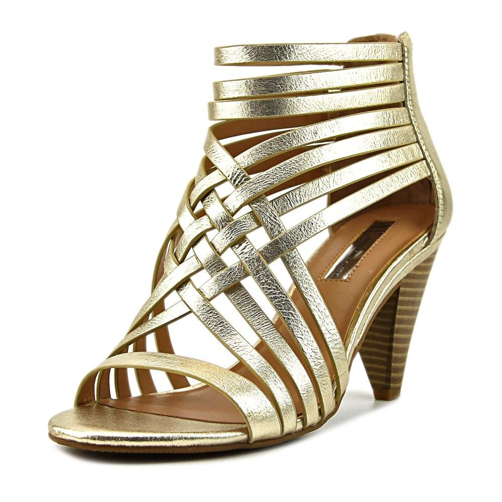 INC International Concepts Womens Garoldd Leather Open Toe, Gold, Size 7.0