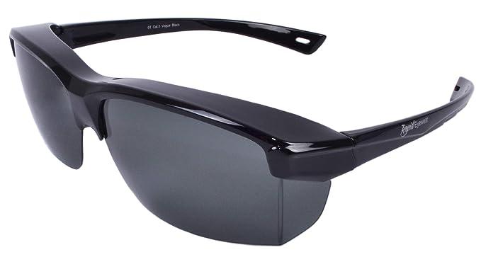 Rapid Eyewear Vogue SOBREGAFAS DE SOL POLARIZADAS negro. Para hombre y mujer. Ajuste sobre gafas de hasta 140 mm de ancho. Para la conducción, la ...