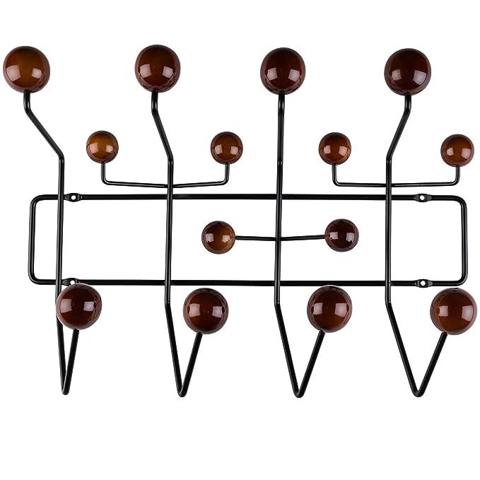 Amazon.com: Perchero de pared de acero con esfera de poli y ...