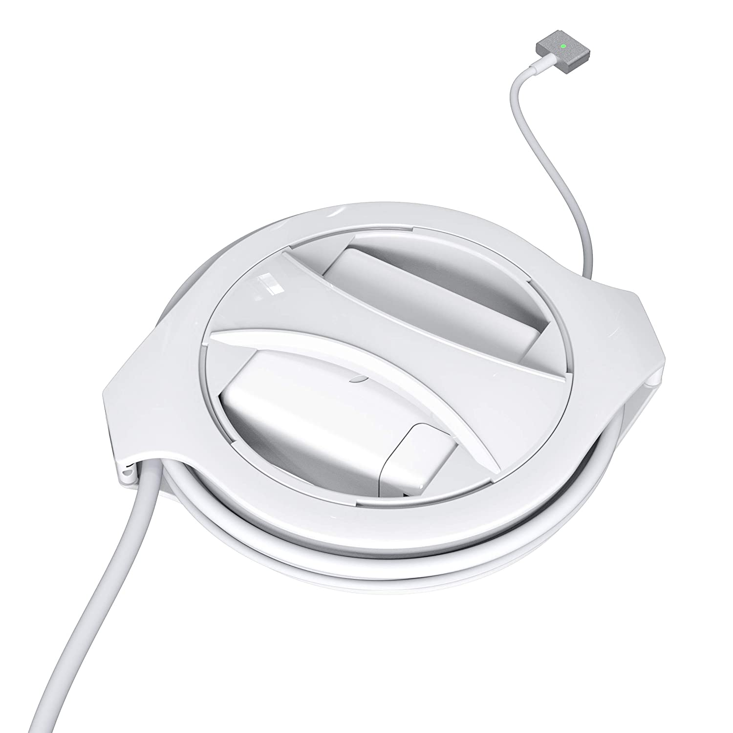 The Side Winder MagSafe MacBook Charger Winder Fuse White Cable Organizer