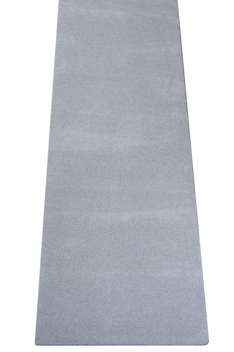 havatex Luxus Velours Teppich Läufer Buffalo - große Farbauswahl viele Größen   Prüfsiegel: Blauer Engel   100% Polypropylen   weicher Flor, Farbe:Grau, Größe:80 x 300 cm