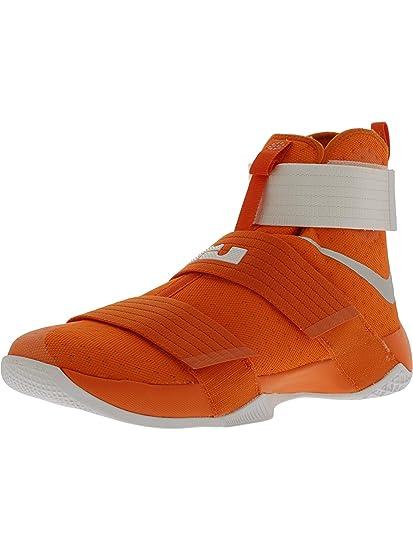 los angeles 722ce f51db Nike Men s Lebron Soldier 10 Tb Promo Orange Blaze Metallic Silver White  High-Top