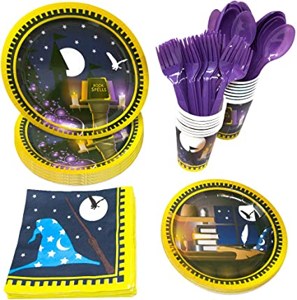 Wizard Academy Standard Party Packs Wizard Party Supplies 65+ Pieces for 16 Guests! Birthdays Blue Orchards